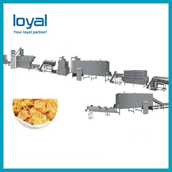 Automatic Corn Flakes Making Machine , Gas / Diesel / Electric Extruded Snacks Machinery #3 image