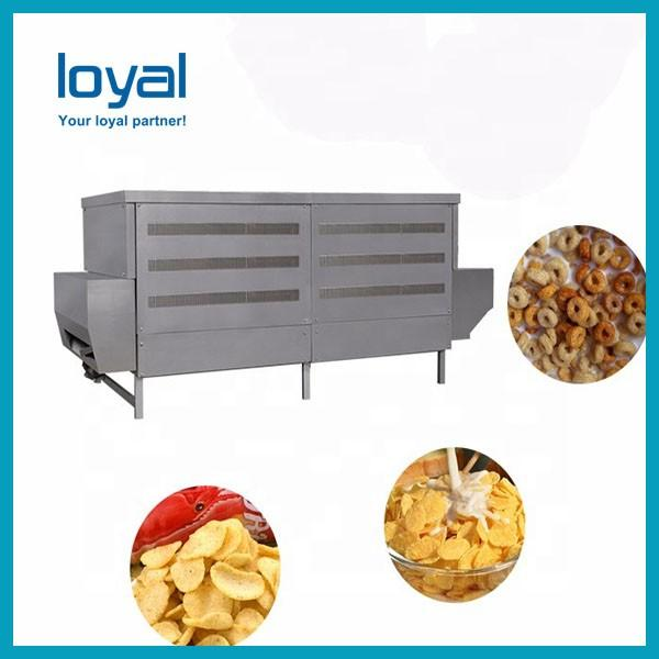 Free Spares Automatic Stainless Steel Twin Screw Extruder Breakfast Cereal Corn Flakes Making Machine Price #3 image